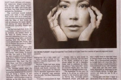 Italian Translation of My Cape Town Times Interview